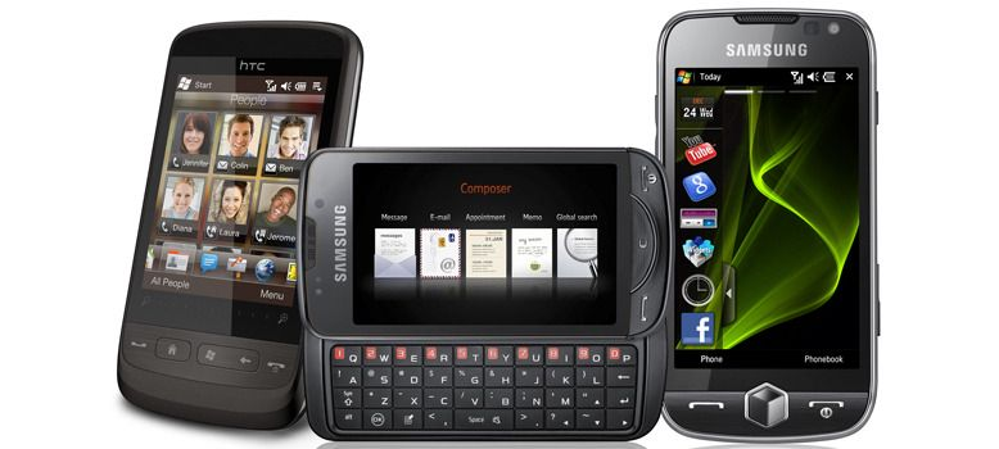 Disse kommer med Windows Mobile 6.5