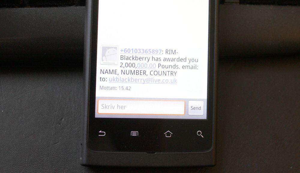 En liten hilsen til SMS-spammere