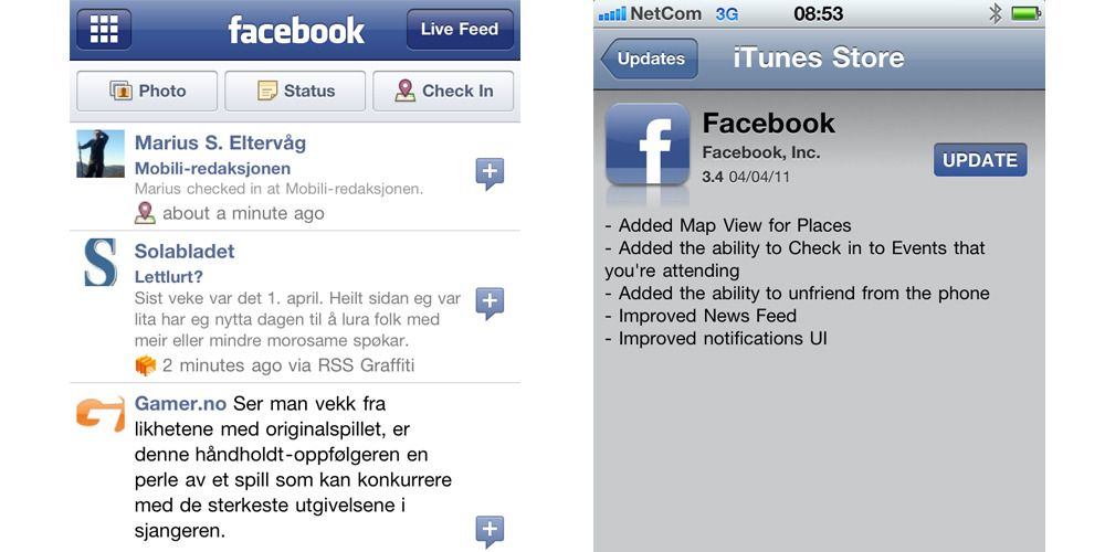 Facebook for iPhone er blitt bedre