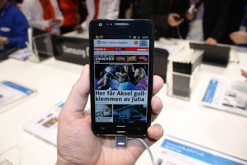 Samsung klokker opp Galaxy S II