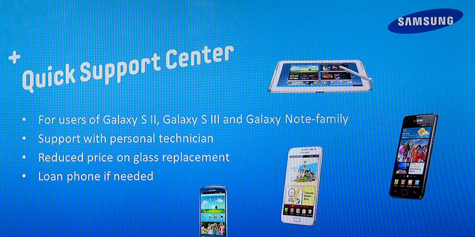 Samsung utvider kundeservicen