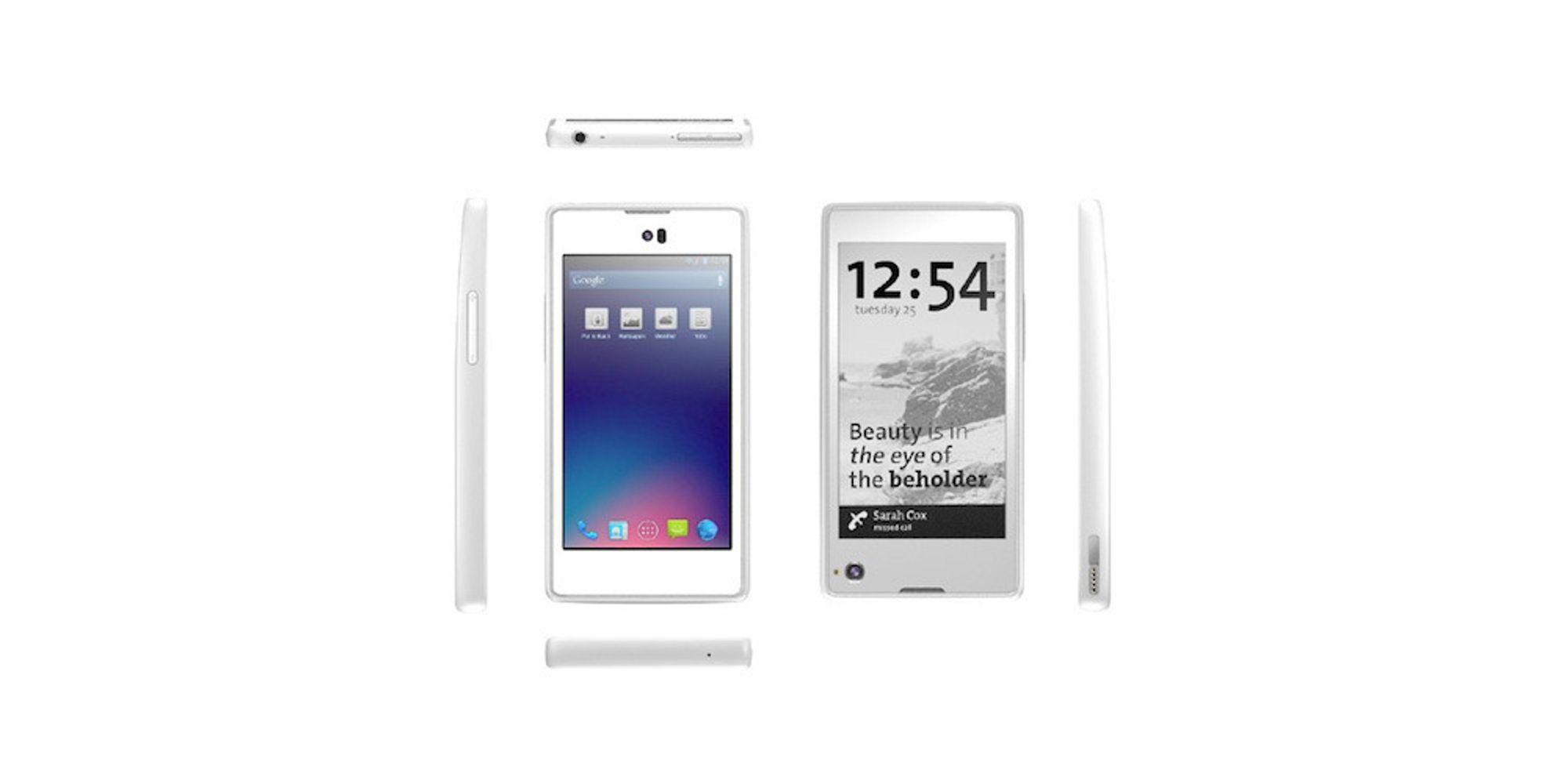 Lanserer mobil med lesebrett-skjerm