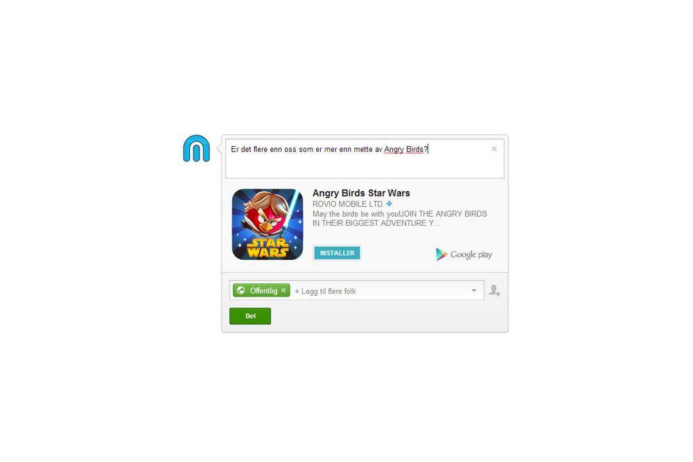 Nå kan du installere apper rett fra Google+