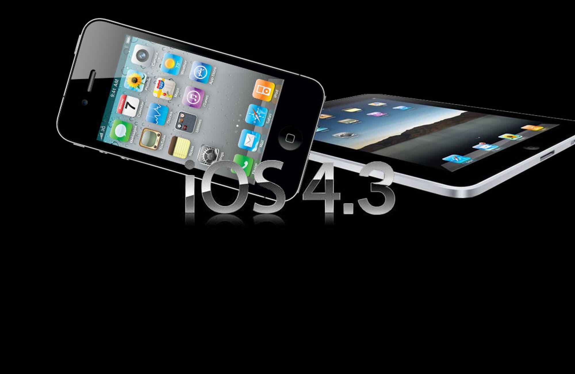 iOS 4.3 er klart