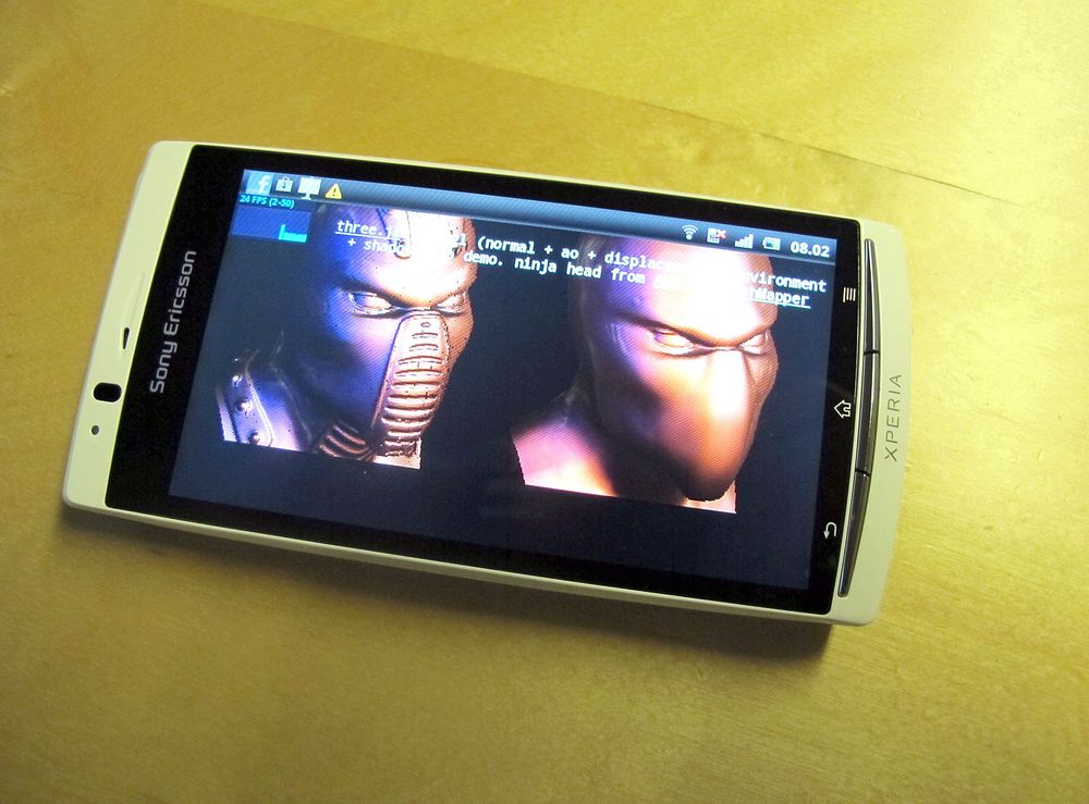 Sony Ericsson først med WebGL