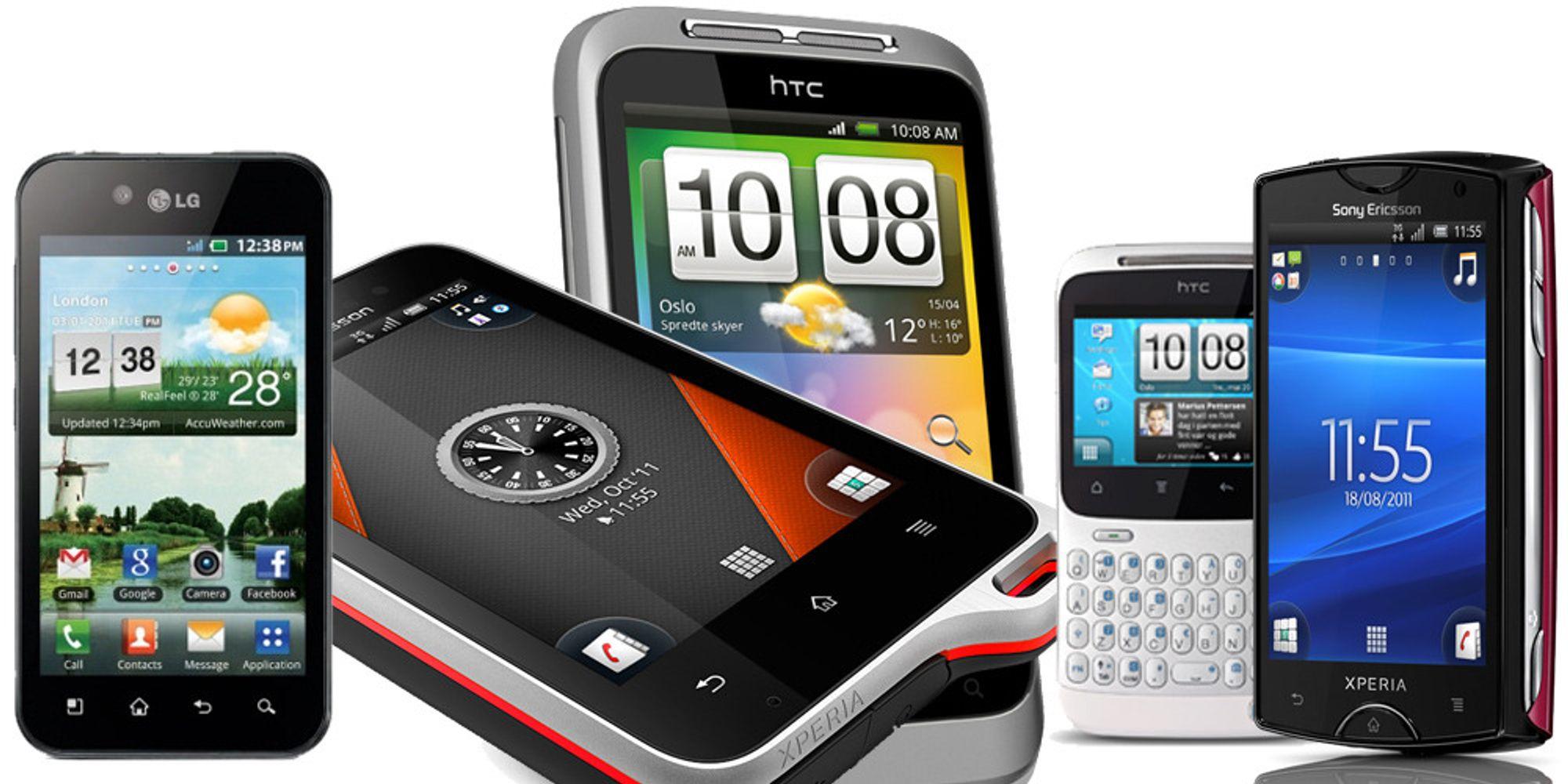 Åtte gode Android-telefoner til under 2500