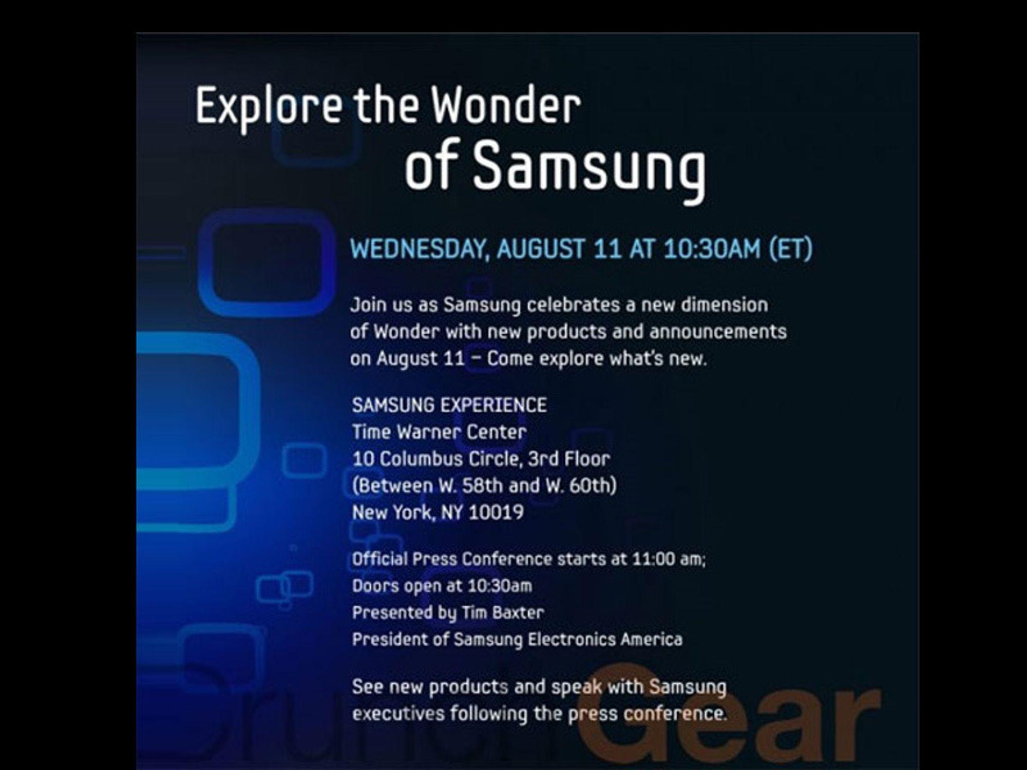 Hva skal Samsung vise frem i morgen?