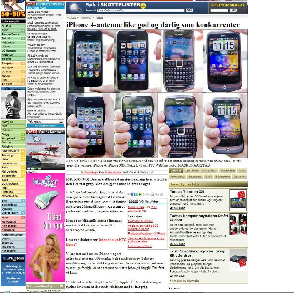 VGs iPhone-test og problemene med den