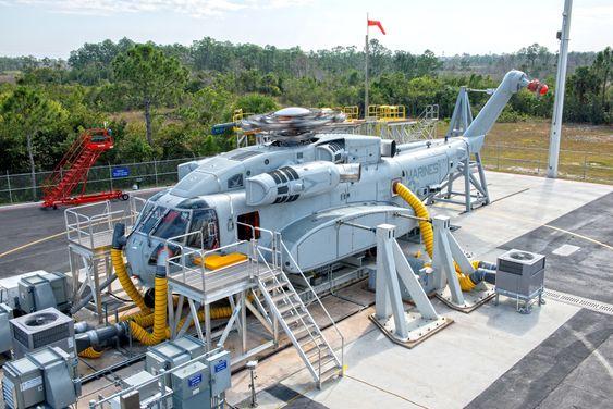CH-53K-prototypen som benyttes til bakketesting (GTV) ble levert til Sikorskys testanlegg i West Palm Beach, Florida, sent i 2012.