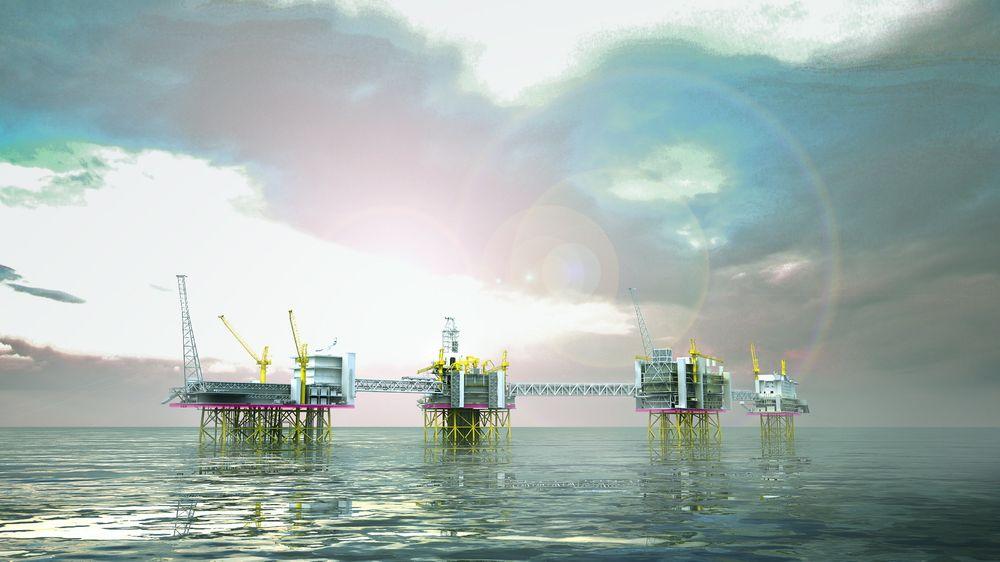 Slik blir første fase av Johan Sverdrup-utbyggingen på Utsirahøyden.