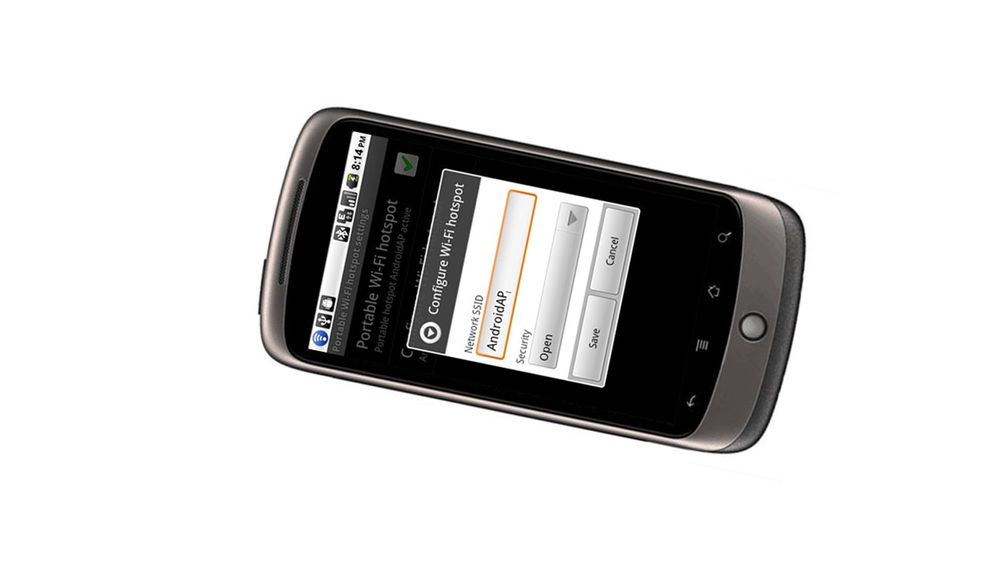 Android blir Wi-fi hotspot