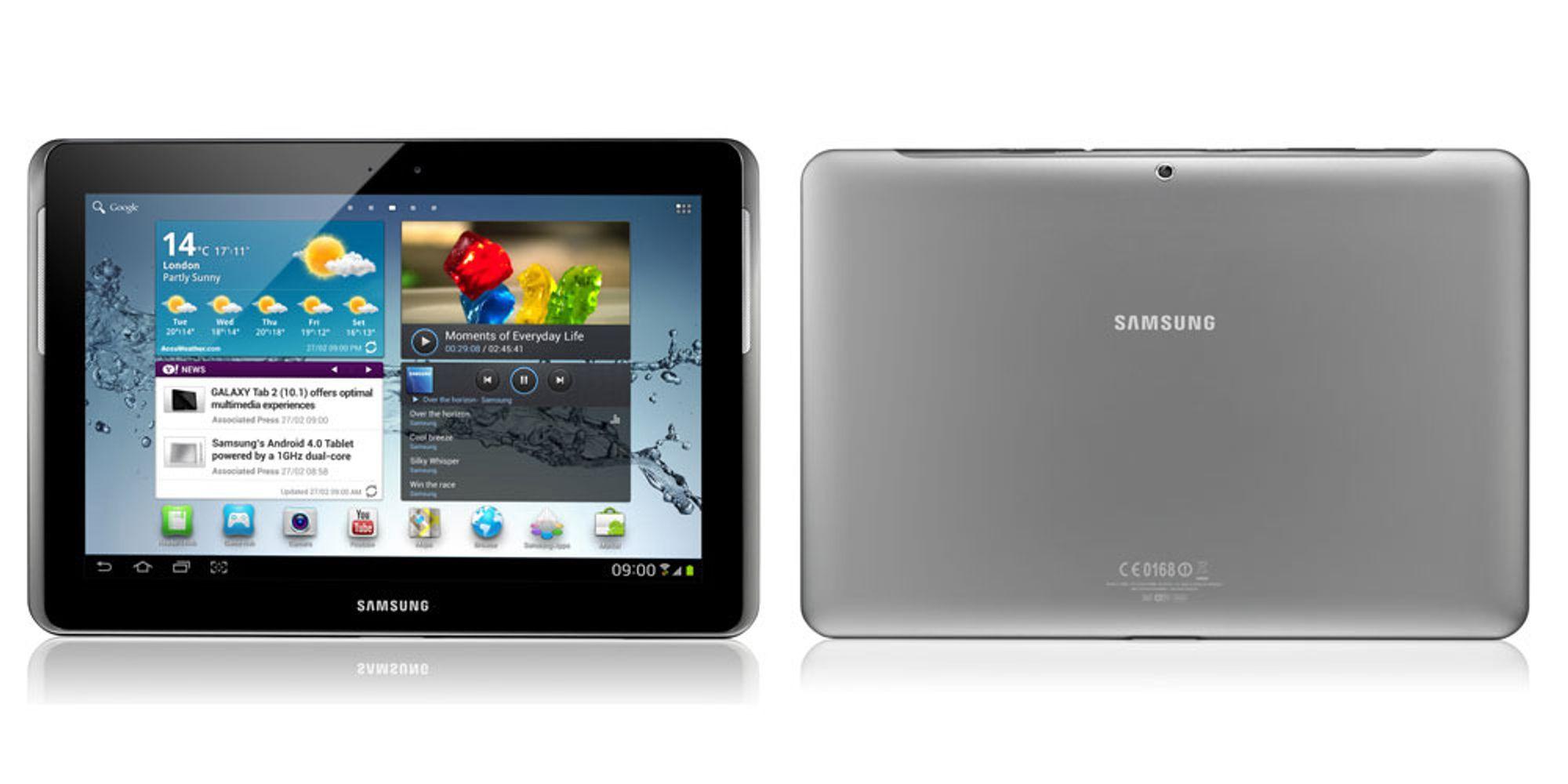 Samsung lanserer Galaxy Tab 2 (10.1)