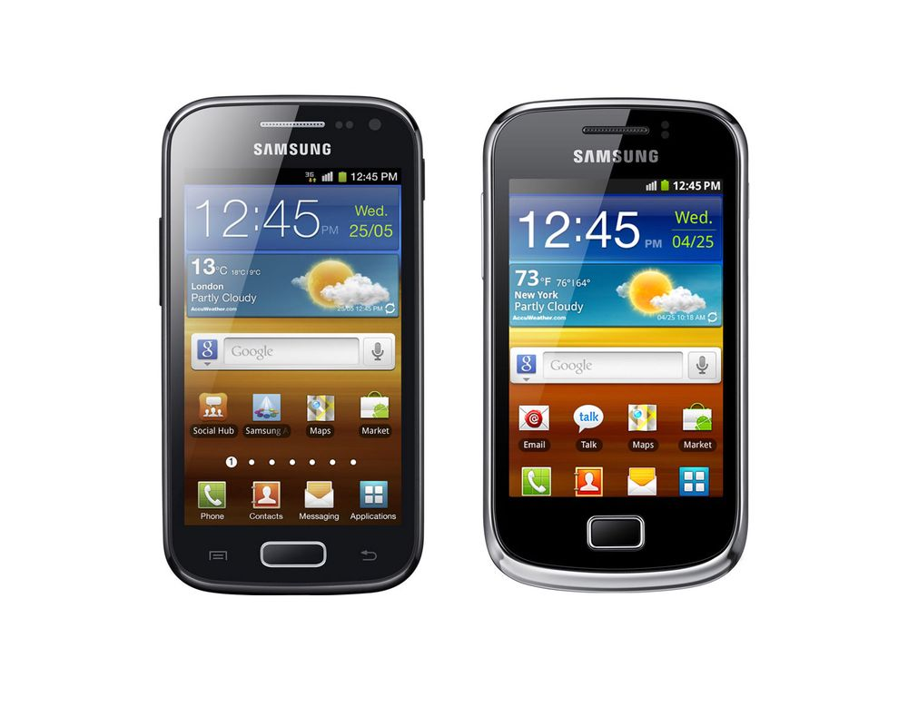 Samsung lanserer ny Galaxy Ace og Mini