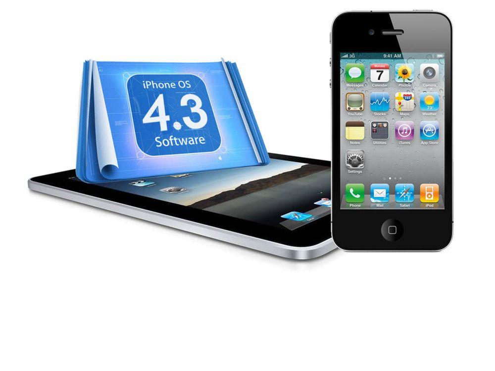 Dette er nytt i iOS 4.3