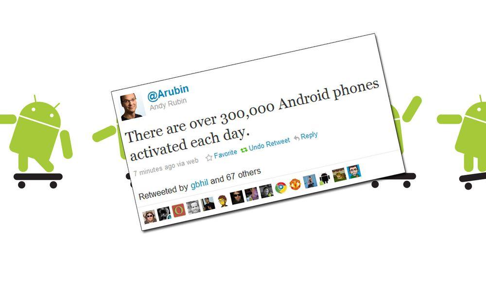Over 300 000 Android-telefonen aktiveres daglig