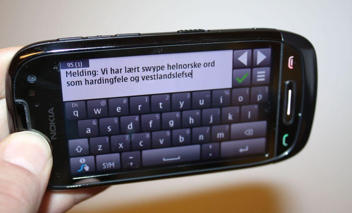 Få norsk Swype på Nokia Tu.no