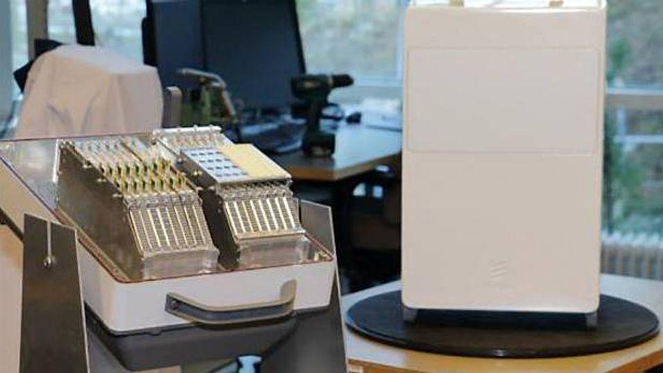 En prototype på en av Ericssons 5G-terminaler.