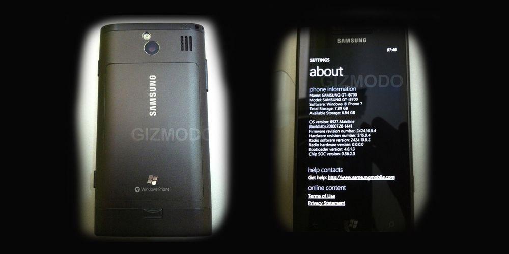 Samsungs første Windows Phone 7-telefon?