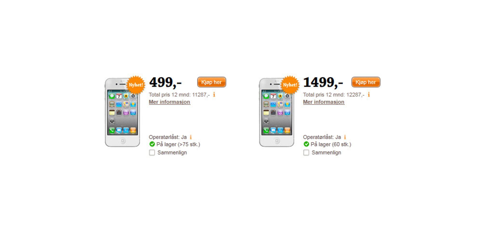 Nå er hvit iPhone på lager