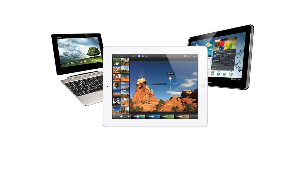 Slik måler nye iPad seg med Android-brettene