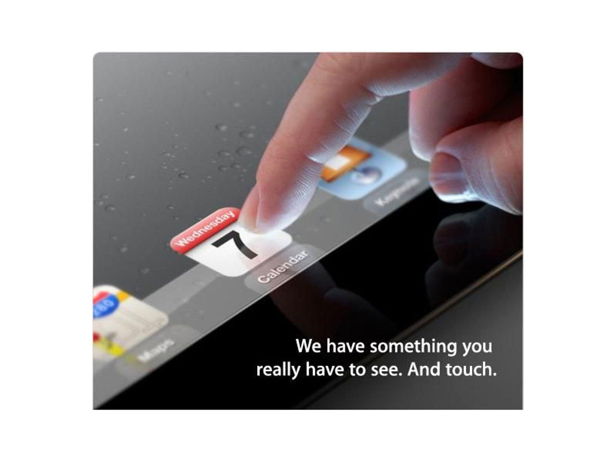 iPad 3 kommer 7. mars