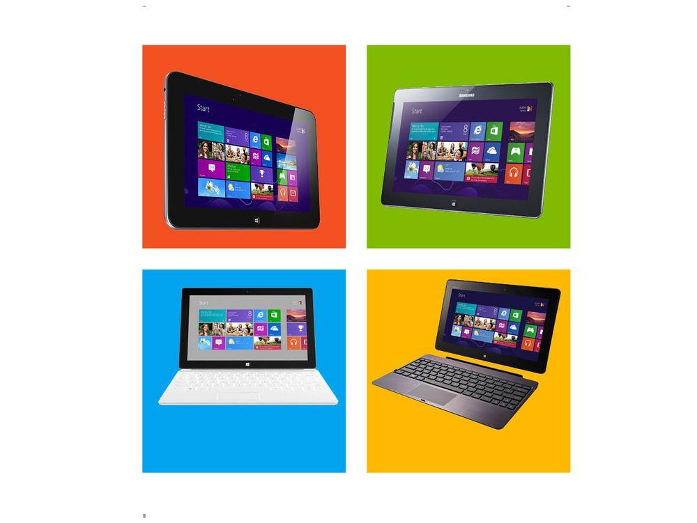 Her er Windows 8 RT-brettene