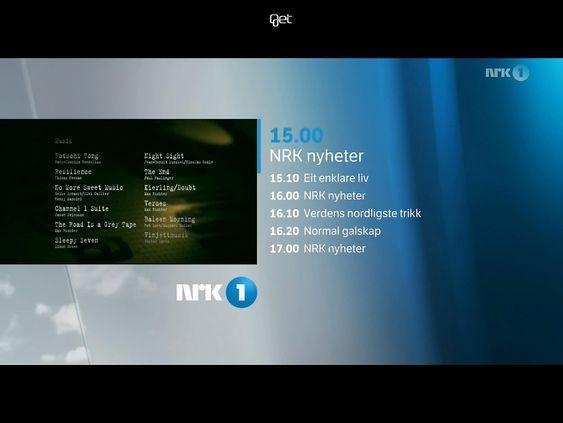 Fullskjerm: Når man ser på et program dekker det hele skjermen. At det er en sort stripe i topp og bånn skyldes av Apples har valt et 4:3 format på iPad og ikek et film og TV-vennelig format på 16:9 som på Android.