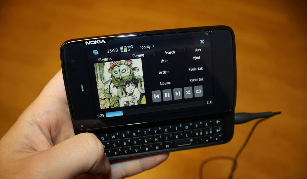 Vi kjører Spotify på Nokia N900