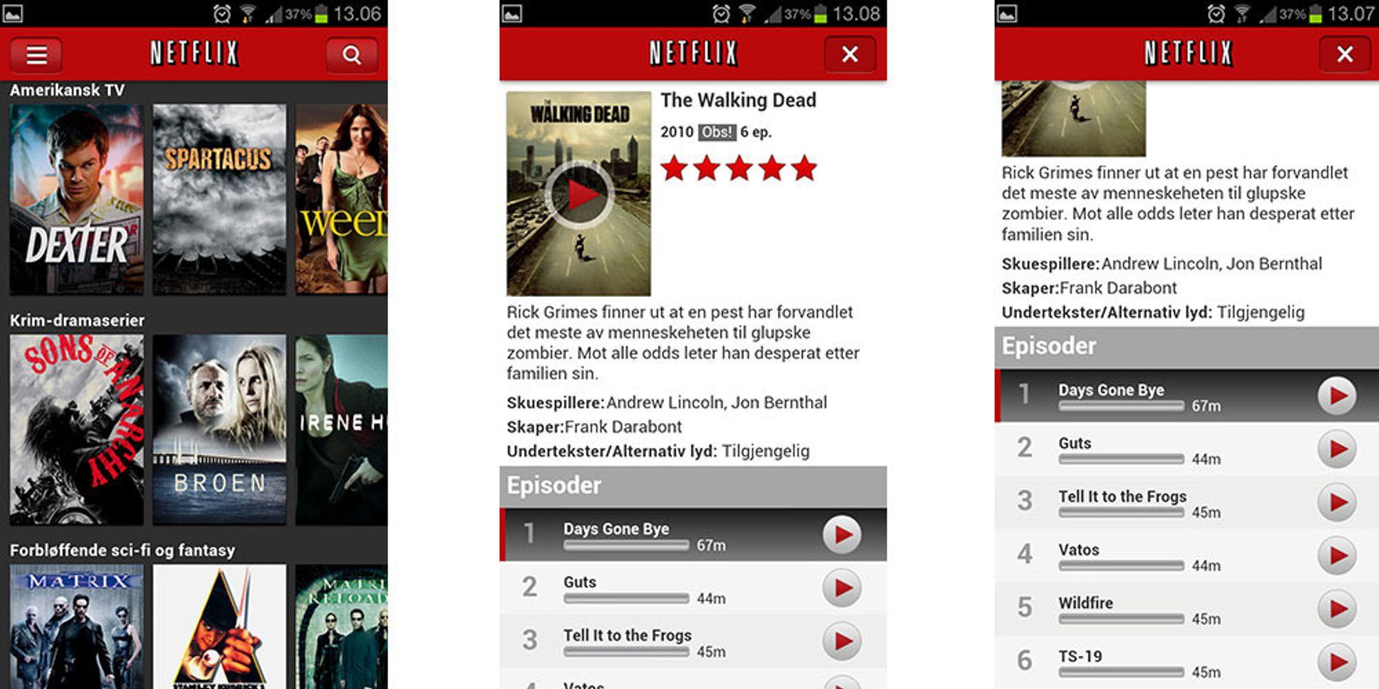 Kom i gang med Netflix på mobilen