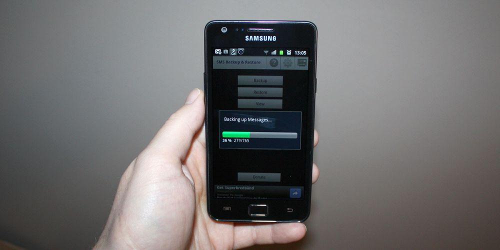Slik kopierer du ut SMS-ene dine