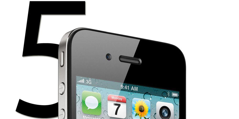- iPhone 5 kommer 15. oktober
