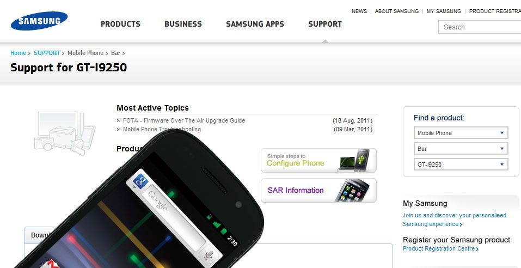 Klar for Google Nexus Galaxy?