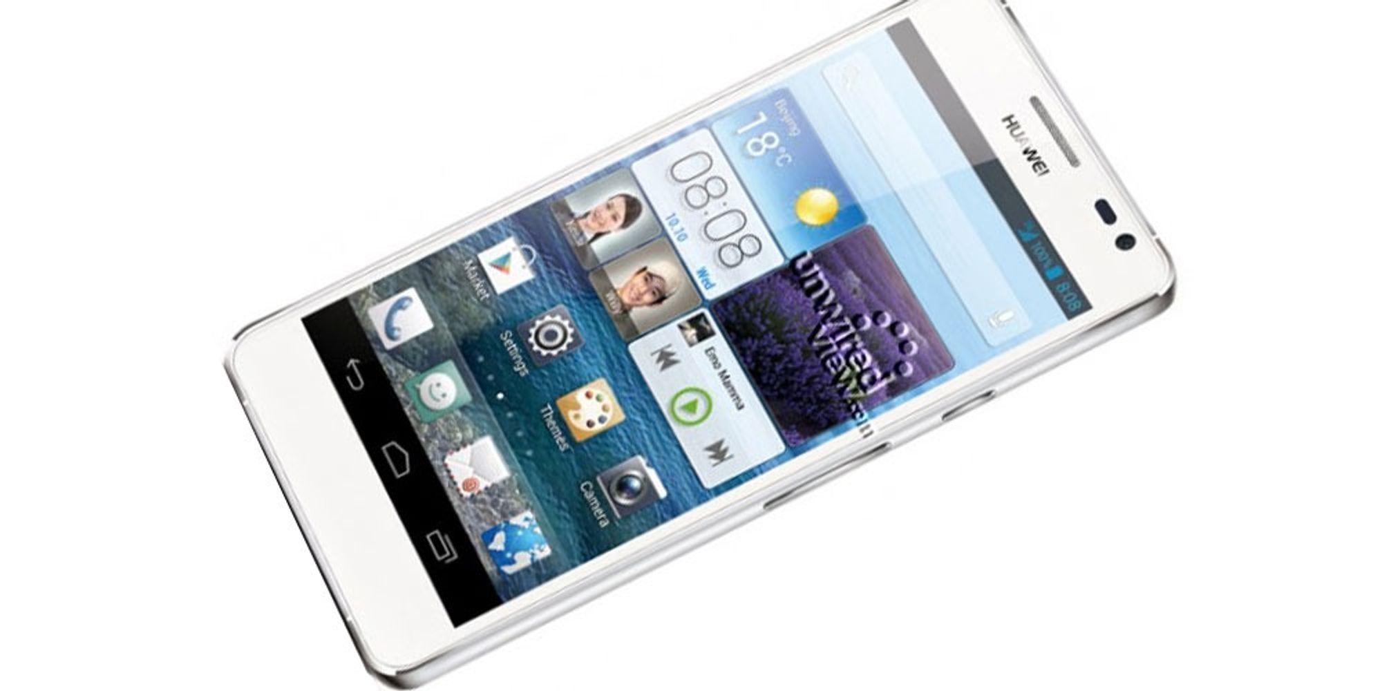 Huawei Ascend D2 er avbildet