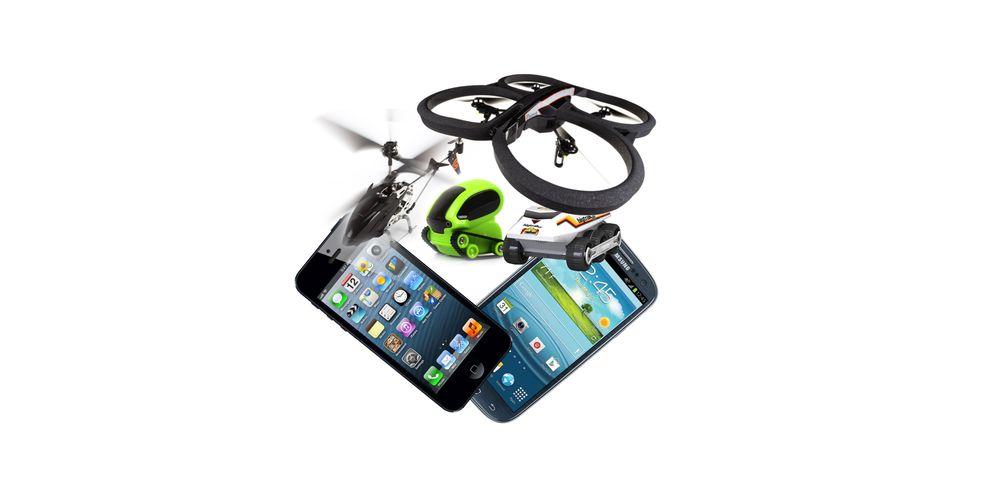 Disse fjernstyrte lekene kan styres med mobil