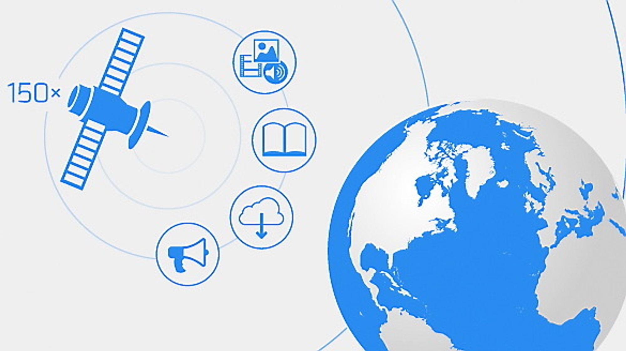 Et satellittbasert internett for hele verden rulles snart ut.