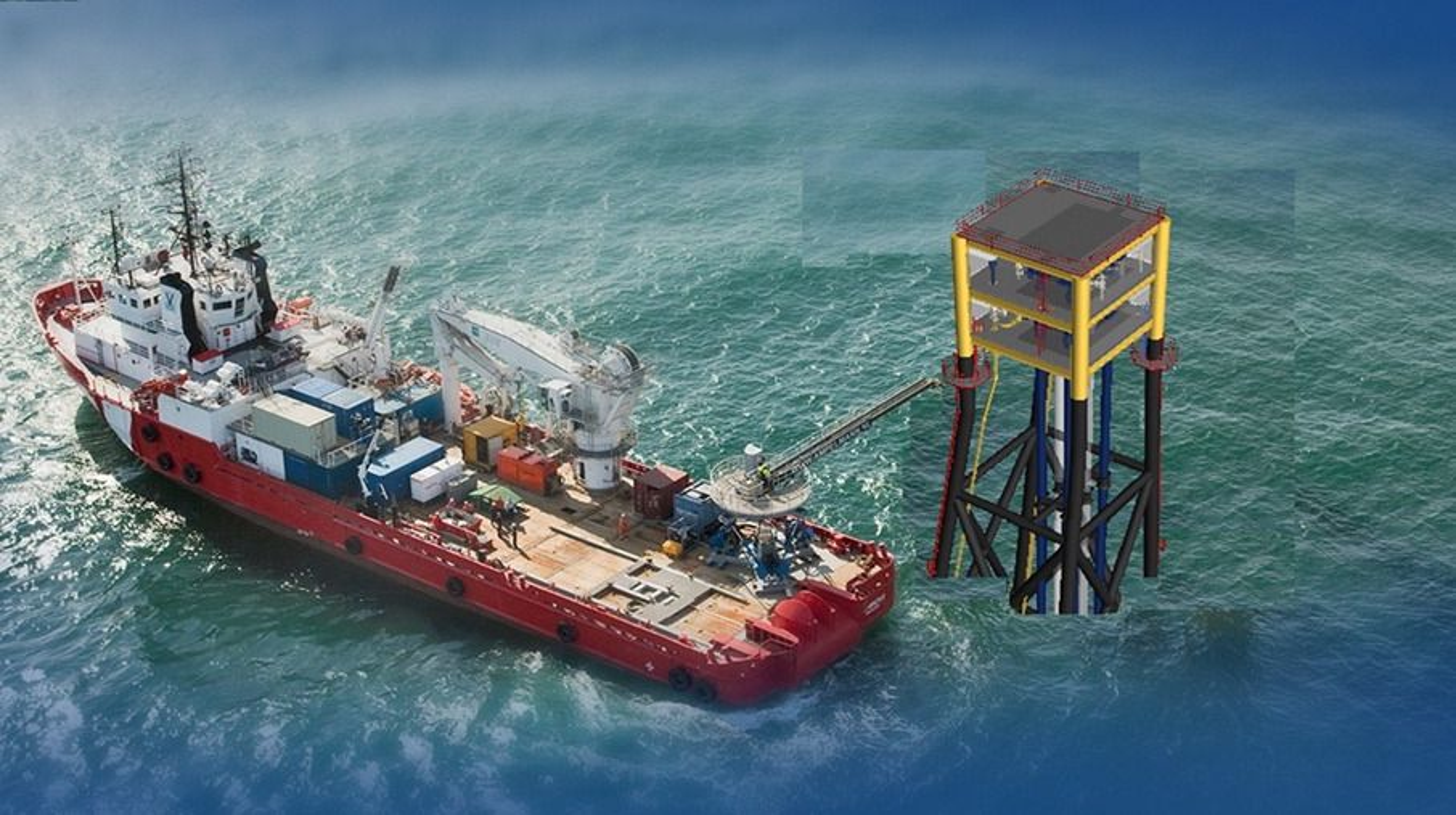 Statoils skisser i forbindelse med mulighetsstudien av små, ubemannede plattformer, såkalt «subsea on slim legs».
