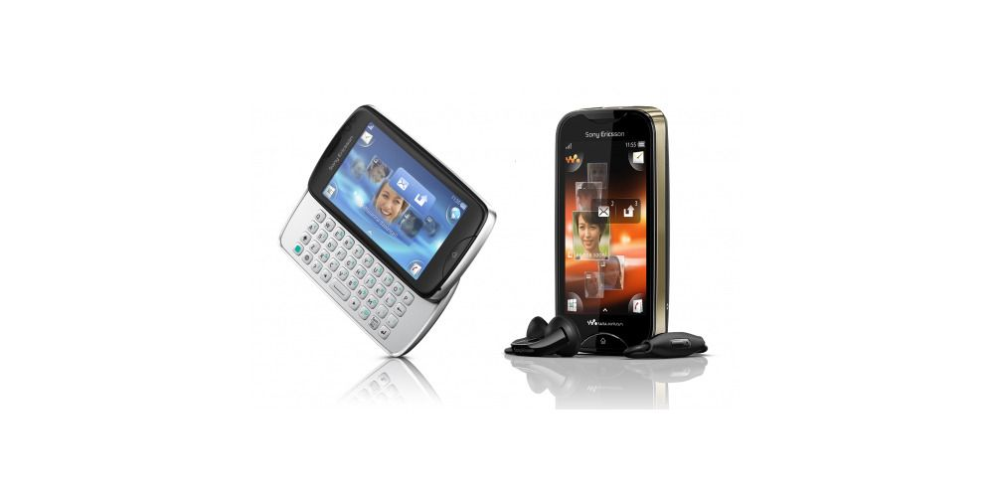 Sony Ericsson avduker txt pro og Mix Walkman