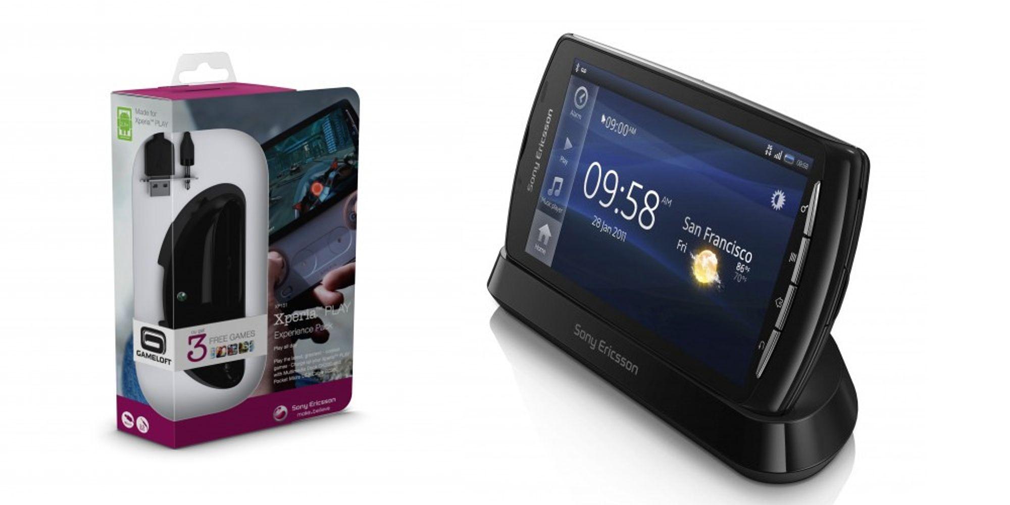 Sony Ericsson med tilleggspakke til Xperia Play
