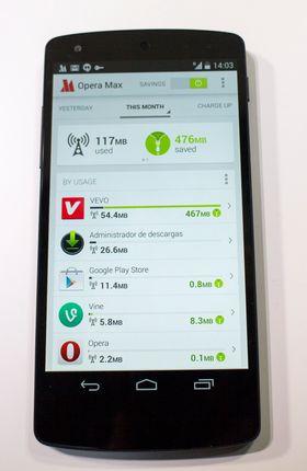 Datasparebøsse: Opera Software lanserer Opera Max appen som knapper inne på databehovet til mobiltelefonene gjennom å komprimere det som sendes.