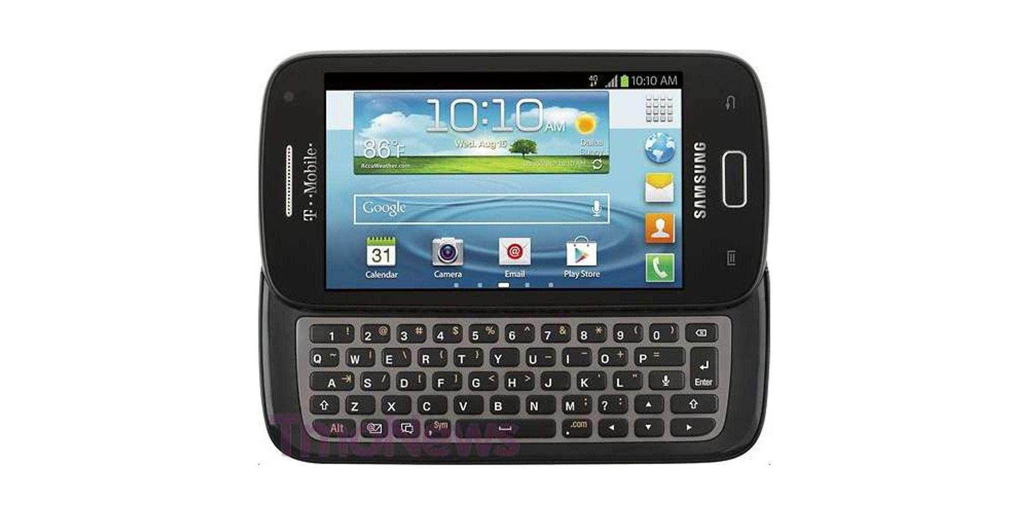 Råsterk tastaturmobil fra Samsung