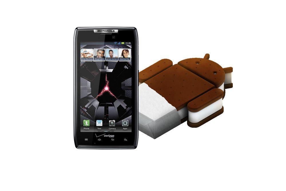 Android 4.0 ruller ut på Motorola Razr