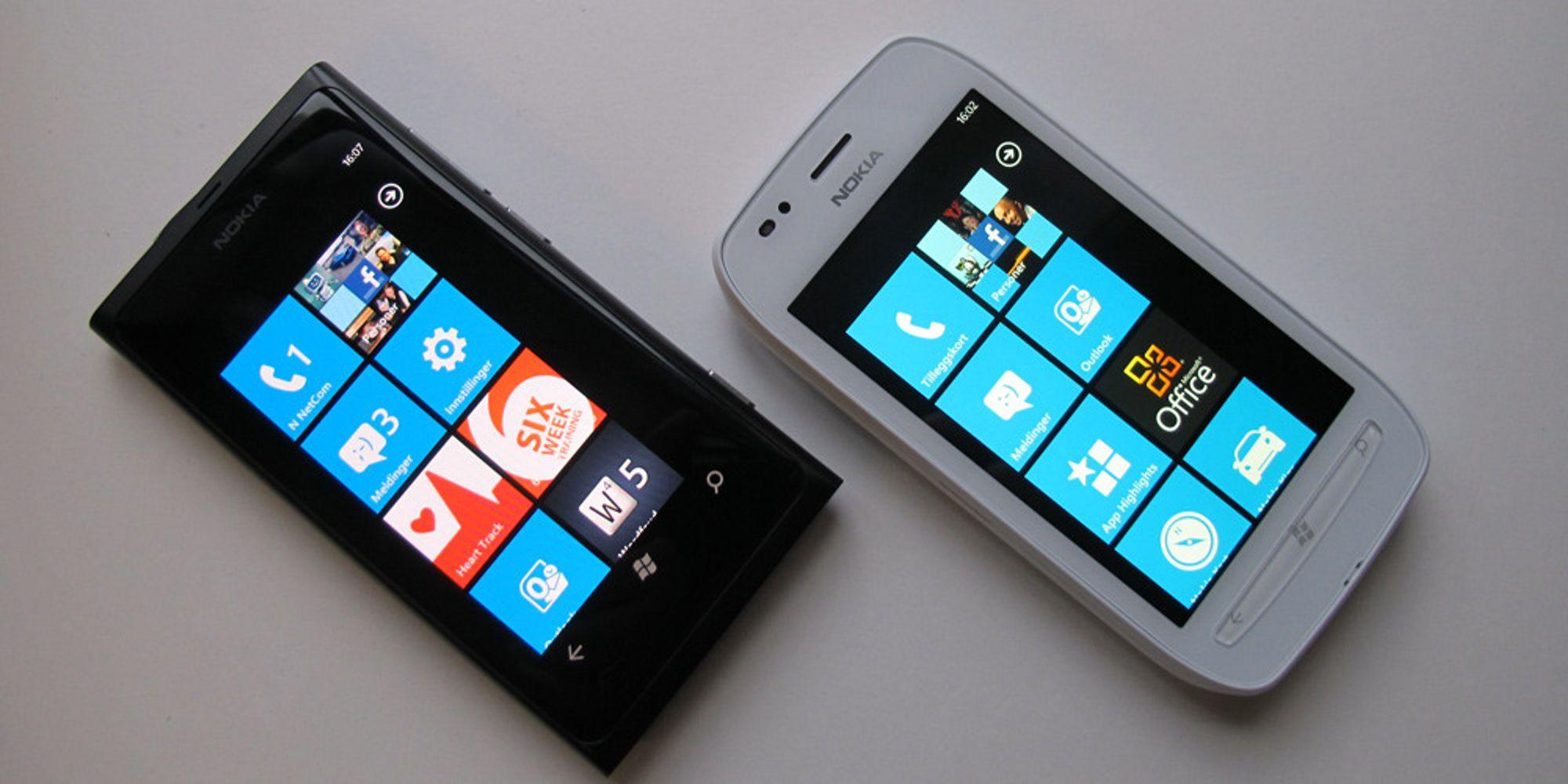 Nokia Lumia 800 VS Lumia 710