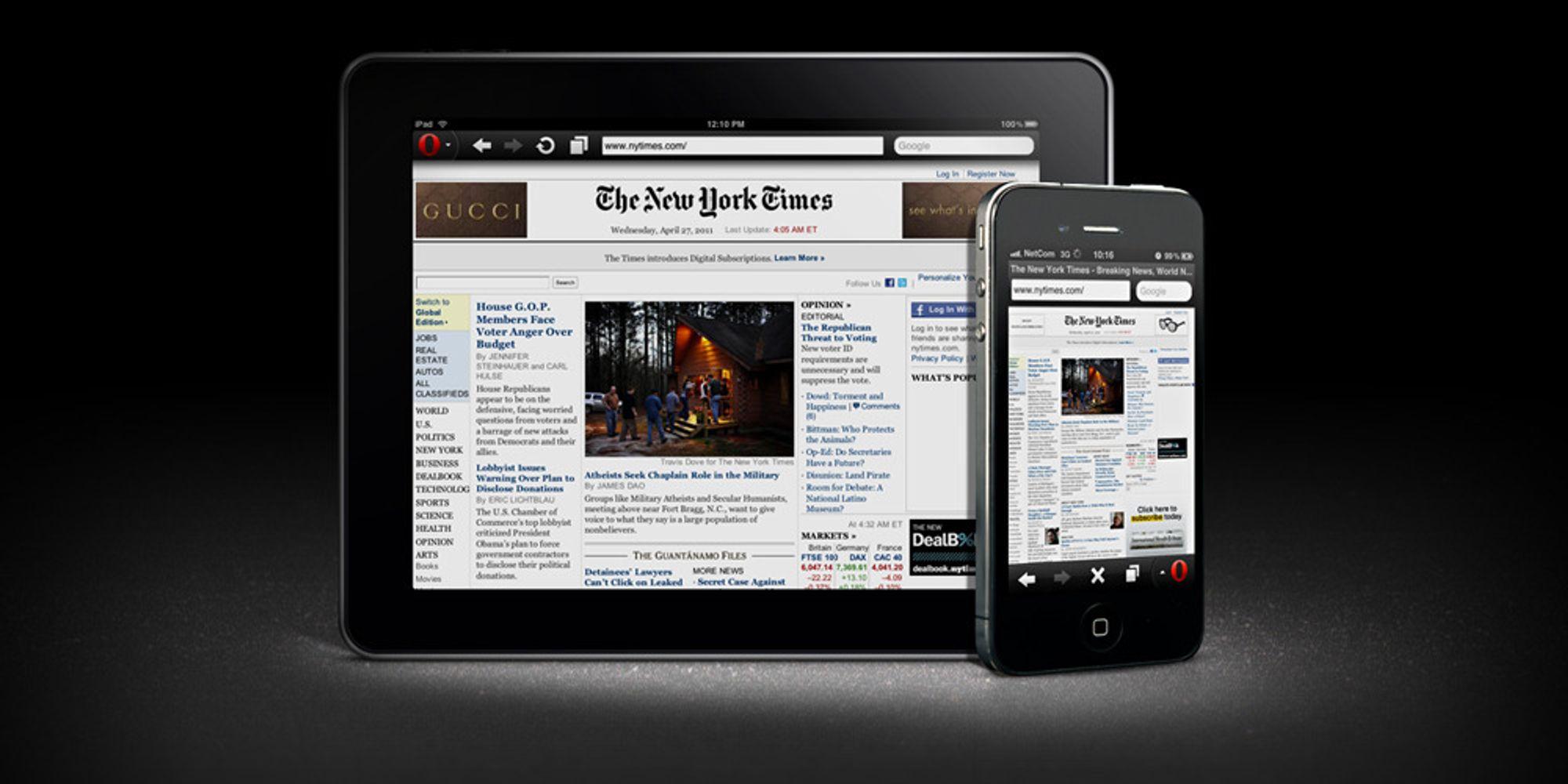 Nå får du Opera Mini 6 til iPhone