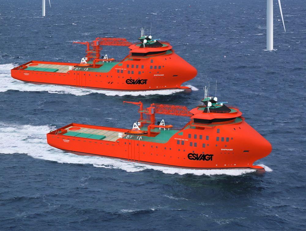 Verksted på sjøen: Esvagt valgte Havyard 832 SOV til servicefartøy for vindturbinparker offshore.