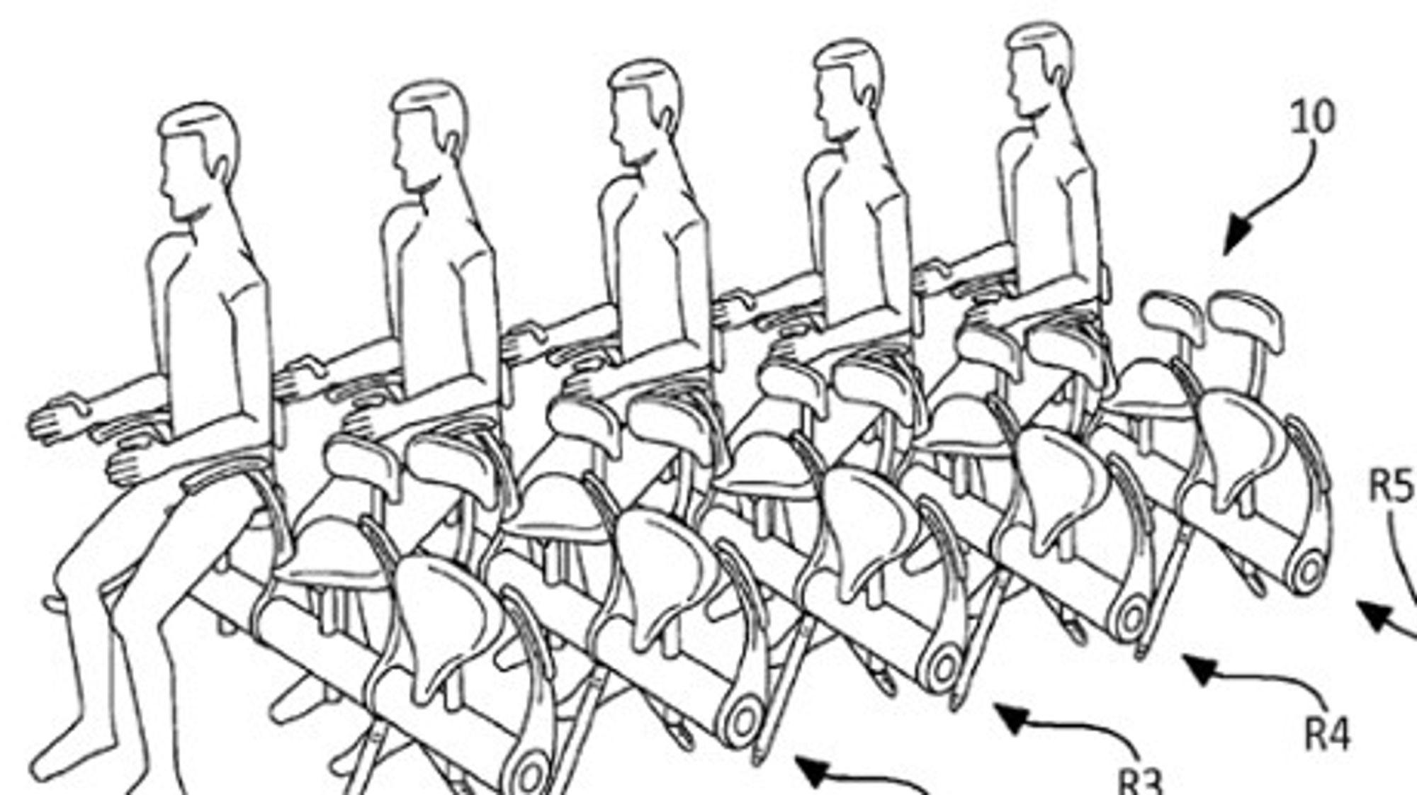 Et nytt stortingsvedtak skal gjøre det lettere for utenlandske aktører å søke patent i Norge. På bildet er Airbus sitt patent på en potensielt ny løsning for flyseter.