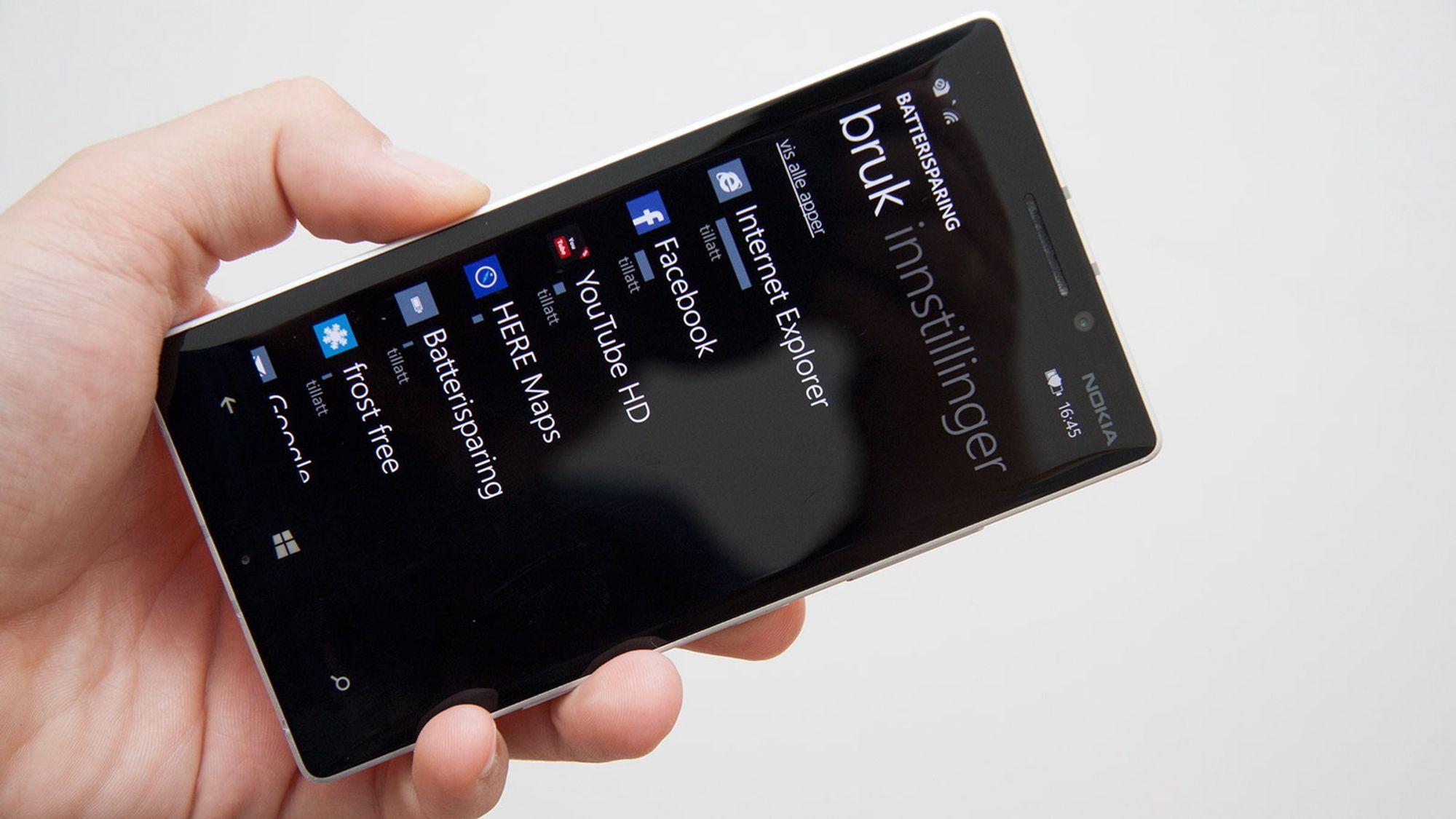 Hva bruker mest strøm på iphone