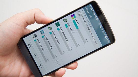 I Android får du en komplett oversikt over hvilke funksjoner som bruker mest batteri.