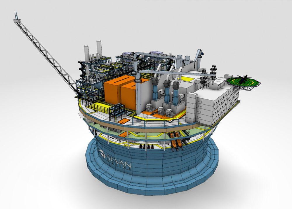 Sevan mener at deres karakteristiske sylinderdesign er godt egnet til flytende LNG-fabrikker.