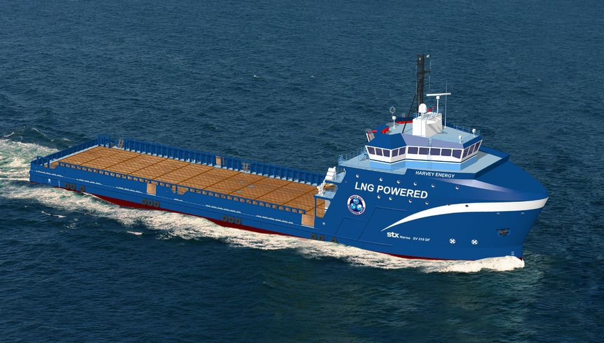 FØRSTE: To supplyskip til Harvey Gulf International Marine utstyres med Wärtsulä dual fuel-motrerer. De blir dermed de første i Meixogulfen som går på LNG.
