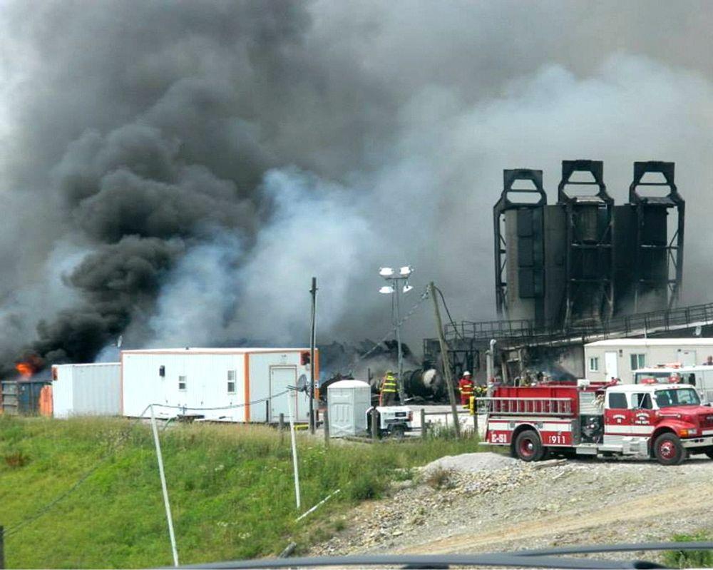Fracking-brannen i Ohio på Statoils anlegg.
